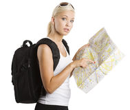 Young blond tourist Royalty Free Stock Photography