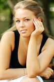 Young blond woman Royalty Free Stock Image