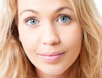 Young blond woman face. Royalty Free Stock Photo