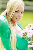 Young blond woman Royalty Free Stock Photos