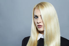 Young blond woman with healthy hair.Beautiful Girl Stock Image
