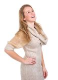 Young blond woman laughing Stock Photography