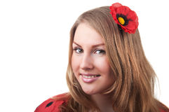 Young blond woman portrait Royalty Free Stock Photo