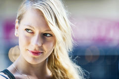 Young blond woman portrait Royalty Free Stock Images