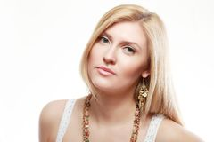Young blond woman Stock Images