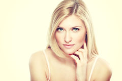 Young blond woman Stock Photography