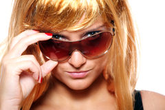 Young blond woman posing Royalty Free Stock Photography