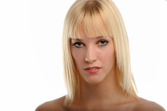 Young Blond Woman's portrait Royalty Free Stock Photos