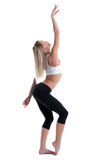 Young blond woman show perfect body Royalty Free Stock Photo