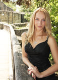 Young blond woman smiling Royalty Free Stock Image