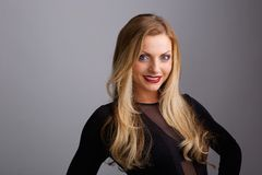 Young blond woman  smiling Royalty Free Stock Photo