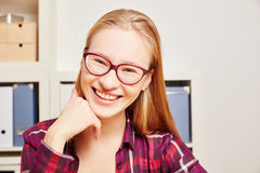 Young blond woman smiling Stock Photos