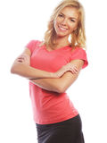 Young blond woman wearing sports clothes Royalty Free Stock Photo