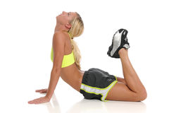 Young blond woman workingout Royalty Free Stock Images