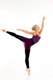 Young blonde ballerina Stock Images
