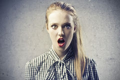 Young Blonde Beauty Scared Royalty Free Stock Photos