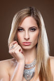 Young blonde beauty with straight hair Stock Image