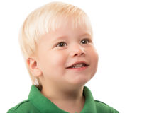 Young Blonde Boy Head Shot Stock Photography