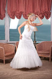 Young blonde bride Royalty Free Stock Photography