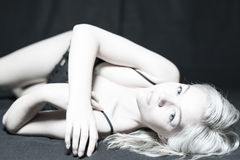 Young Blonde Female Boudoir Stock Photo
