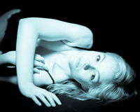 Young Blonde Female Boudoir Stock Images