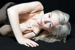 Young Blonde Female Boudoir Royalty Free Stock Image