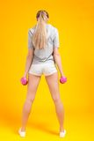Young blonde fitness woman Stock Image