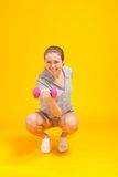 Young blonde fitness woman Royalty Free Stock Photo