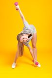 Young blonde fitness woman Royalty Free Stock Photography
