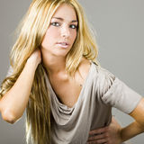 Young blonde girl Royalty Free Stock Photo