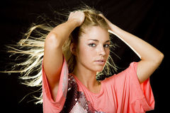 Young blonde girl Royalty Free Stock Photography