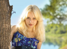 Young blonde   girl Stock Photo