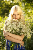Young blonde girl stock photos