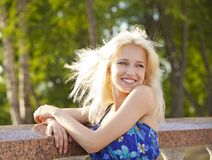 Young blonde   girl Royalty Free Stock Photos