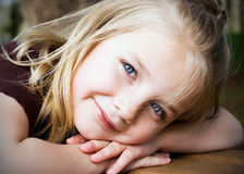Young Blonde Girl Stock Image
