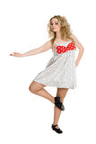 Young blonde girl in dance Stock Image
