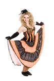 Young blonde girl dancing Royalty Free Stock Image