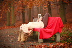 Young blonde girl in park. Stock Photography