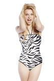 Young blonde girl posing Stock Photos