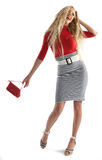 Young blonde going shopping Royalty Free Stock Photography