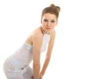Young blonde model - highkey shot Royalty Free Stock Photography