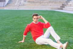Young Man Urban Casual Fashion in New York. Royalty Free Stock Images