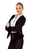 Young blonde serious business woman Royalty Free Stock Photography