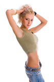 Young blonde slim woman Stock Image