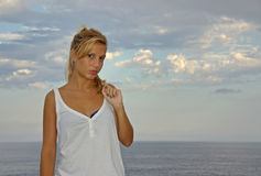 Young Blonde Woman Royalty Free Stock Images