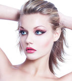 Young blonde woman beauty Stock Photos