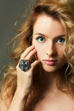 Young Blonde Woman Beauty Portrait Studio Shot Royalty Free Stock Photos