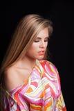 Young blonde woman beauty portrait studio Stock Images