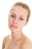 Young blonde woman face Royalty Free Stock Image