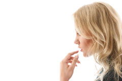 Young blonde woman portrait Stock Image
